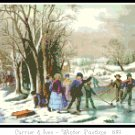 Winter Pastime 1855 Pattern Chart Graph