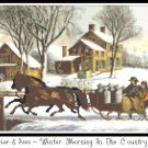 Winter Morning in the Country 1873 Pattern Chart Graph