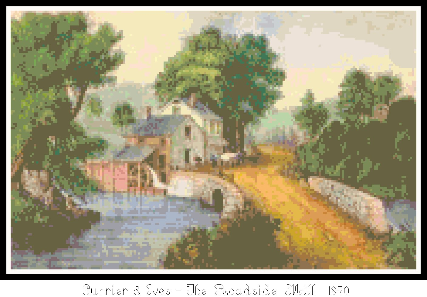 The Roadside Mill 1870 Pattern Chart Graph