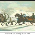 Sleigh Race 1859 Pattern Chart Graph