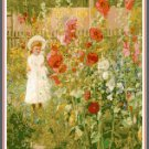 Girl with Hollyhocks Pattern Chart Graph