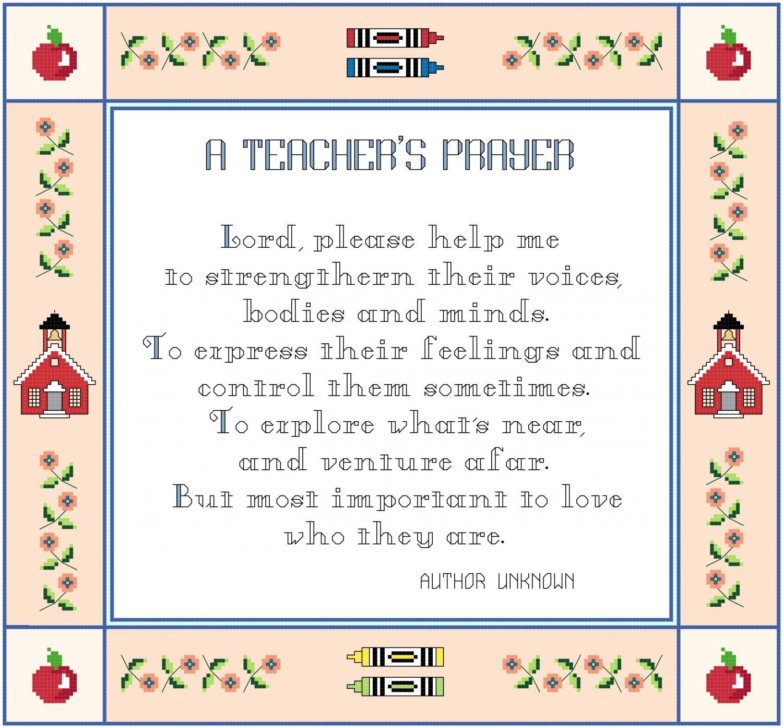 A Teacher's Prayer Pattern Chart Graph