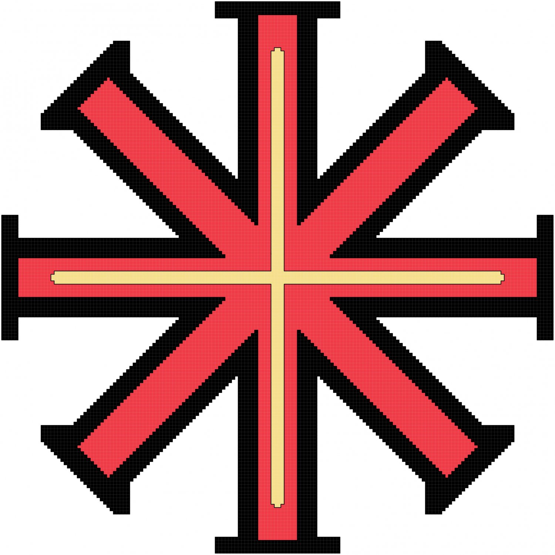 Baptismal Cross Symbol Pattern Chart Graph