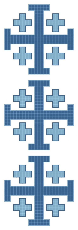 Jerusalem Cross Symbol Pattern Chart Graph
