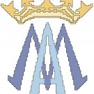 Marian Symbol and Crown Pattern Chart Graph