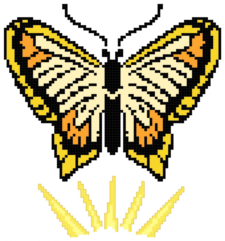 Resurrection Butterfly Symbol Pattern Chart Graph