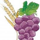 Wheat and Grapes Symbol Pattern Chart Graph