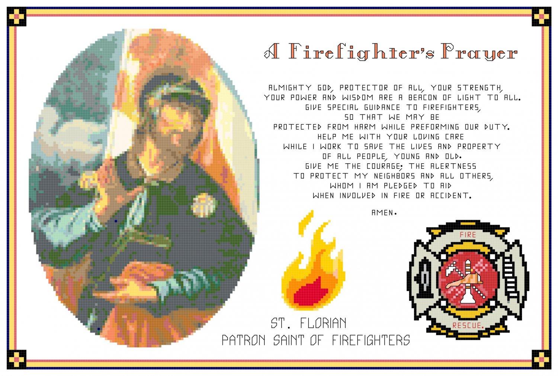 A Firefighter's Prayer Pattern Chart Graph