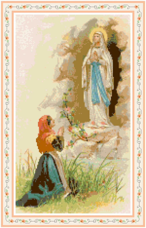 St. Bernadette at Lourdes Pattern Chart Graph