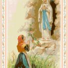 St. Bernadette at Lourdes Pattern Chart Graph