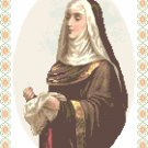 St.. Clare, the Needleworker Pattern Chart Graph