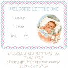Baby Boy Birth Record Pattern Chart Graph