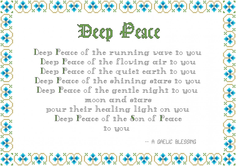 Deep Peace - A Gaelic Blessing Sampler Pattern Chart Graph