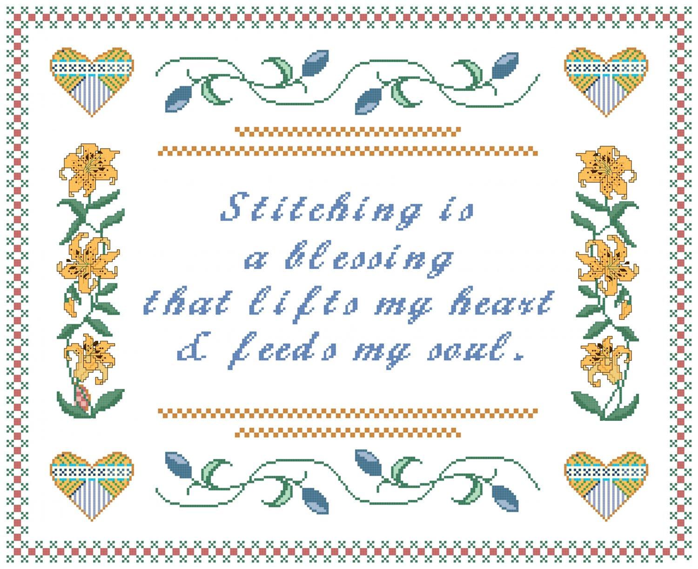 Stitching Is... Sampler Pattern Chart Graph