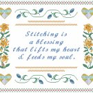 Stitching Is... Sampler Pattern Chart Graph