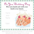 On Your Wedding Day Record Sampler Pattern Chart Graph