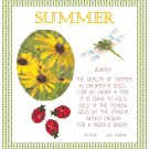 Summer Sampler Pattern Chart Graph