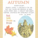 Autumn Pattern Chart Graph