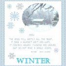 Winter Sampler Pattern Chart Graph