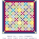 Double Nine Patch Quilt Pattern Chart Graph
