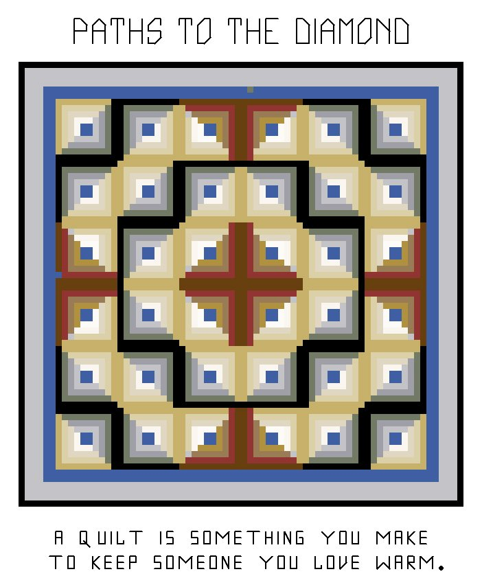 Paths to the Diamond Quilt Pattern Chart Graph