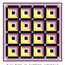 Log Cabin with Sashing Quilt Pattern Chart Graph