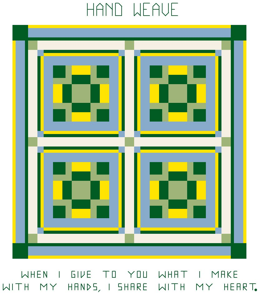 Hand Weave Quilt Pattern Chart Graph