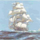 Ariel Tea Clipper Ship - 1865 Seascape Pattern Chart Graph