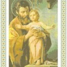 St. Joseph with Christ Child Pattern Chart Graph