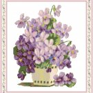 Vase of Violets Pattern Chart Graph