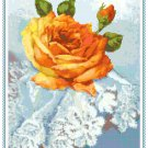 Peace Rose on Lace Pattern Chart Graph