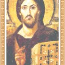 Jesus Christ Pantocrator Icon Pattern Chart Graph