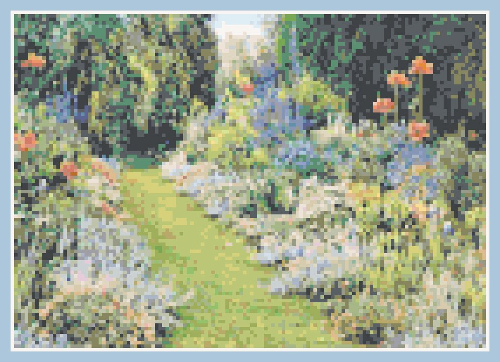 Down the Garden Path Landscape Pattern Chart Graph