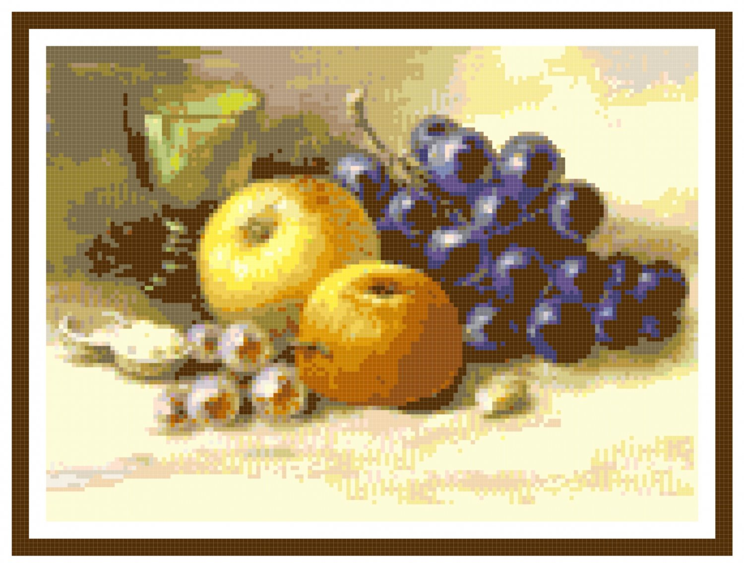 Still Life with Fruit 2 Pattern Chart Graph