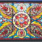 Floral Ornamental Stained Glass Pattern Chart Graph