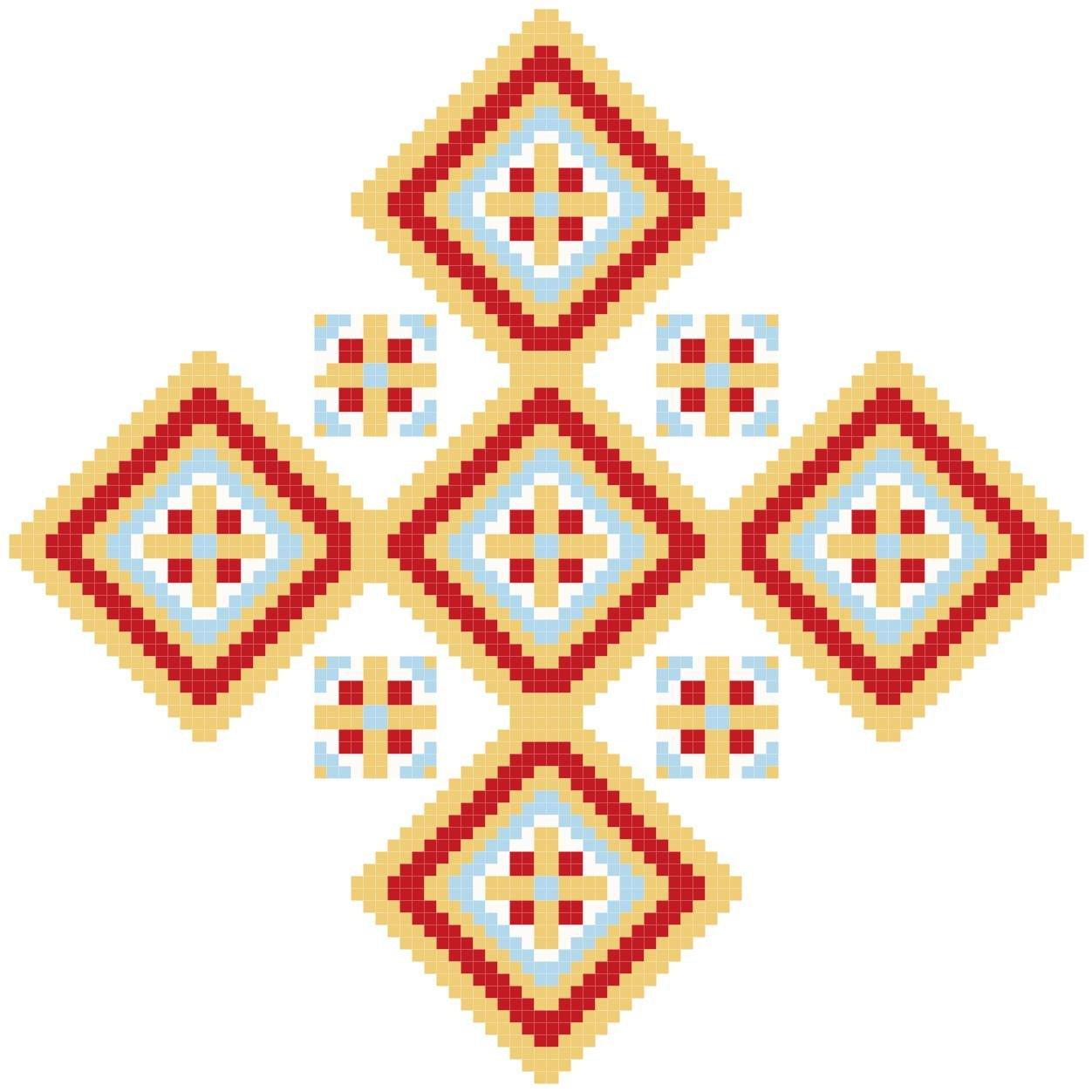 Diamond Cross Pattern Chart Graph