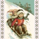 Old-Fashioned Sledding Fun Pattern Chart Graph