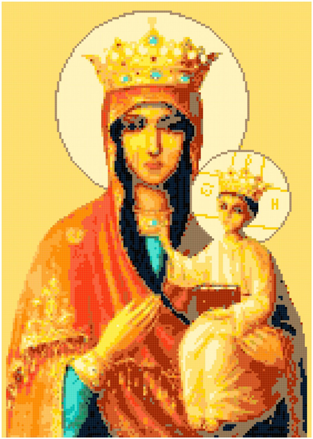 Our Lady of Czestochowa Pattern Chart Graph