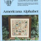 American Alphabet Sampler Cross Stitch Chart Pack  #AN983