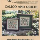 Calico and Quilts Cross Stitch Chart Pack  #AN685