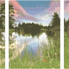 Mountain Lake Landscape Triptych Pattern Chart Graph
