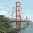 Golden Gate Bridge Landscape Pattern Chart Graph