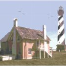Cape Hatteras Lighthouse Seascape Pattern Chart Graph