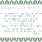 Prayer of St. Patrick Pattern Chart Graph