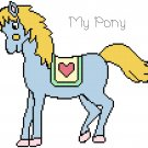 My Pony (Blue) Pattern Chart Graph