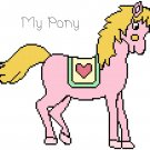 My Pony (Pink) Pony Pattern Chart Graph
