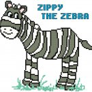 Zippy the Zebra Pattern Chart Graph