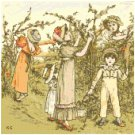 October by Kate Greenaway Pattern Chart Graph