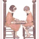 A Friendly Game by Jessie Willcox Smith Pattern Chart Graph