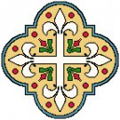 Fleur de Lis Cross Pattern Chart Graph